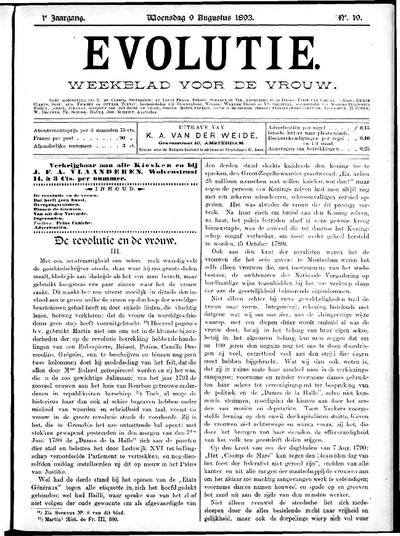 Evolutie: weekblad voor de vrouw, jaargang 01, nummer 19