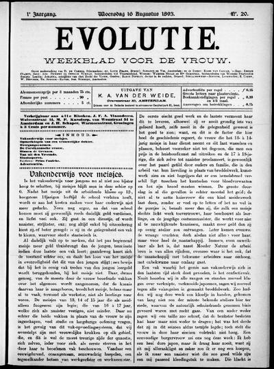 Evolutie: weekblad voor de vrouw, jaargang 01, nummer 20