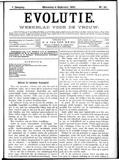 Evolutie: weekblad voor de vrouw, jaargang 01, nummer 23