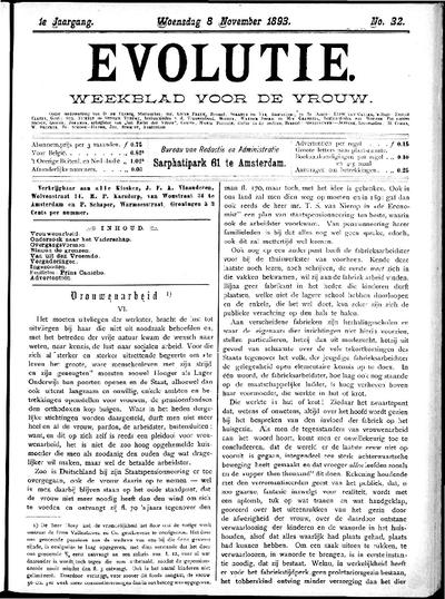 Evolutie: weekblad voor de vrouw, jaargang 01, nummer 32