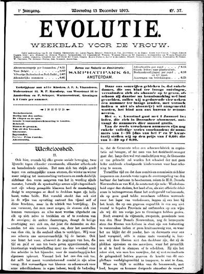 Evolutie: weekblad voor de vrouw, jaargang 01, nummer 37