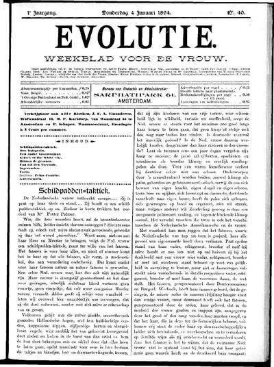 Evolutie: weekblad voor de vrouw, jaargang 01, nummer 40