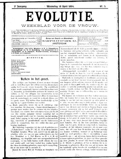 Evolutie: weekblad voor de vrouw, jaargang 02, nummer 03