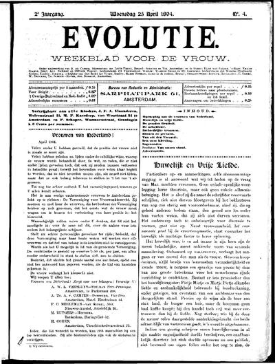 Evolutie: weekblad voor de vrouw, jaargang 02, nummer 04
