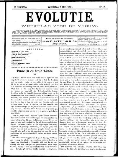 Evolutie: weekblad voor de vrouw, jaargang 02, nummer 06