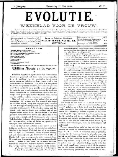 Evolutie: weekblad voor de vrouw, jaargang 02, nummer 07