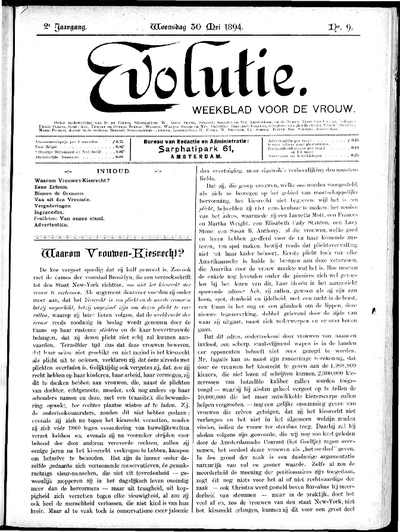 Evolutie: weekblad voor de vrouw, jaargang 02, nummer 09
