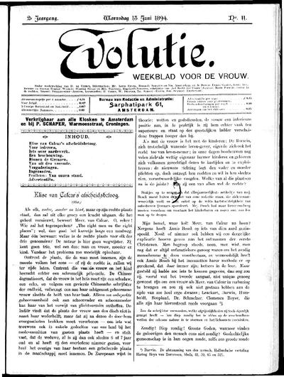 Evolutie: weekblad voor de vrouw, jaargang 02, nummer 11