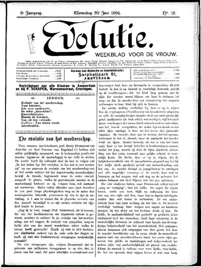 Evolutie: weekblad voor de vrouw, jaargang 02, nummer 12