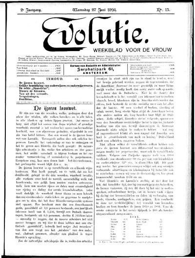 Evolutie: weekblad voor de vrouw, jaargang 02, nummer 13