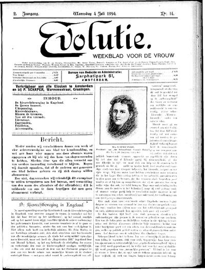 Evolutie: weekblad voor de vrouw, jaargang 02, nummer 14