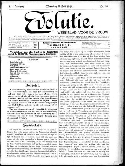 Evolutie: weekblad voor de vrouw, jaargang 02, nummer 15
