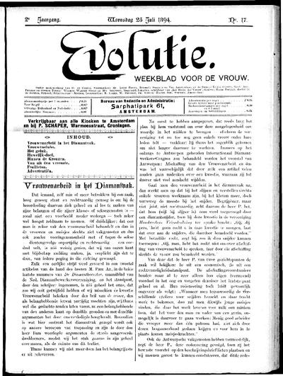 Evolutie: weekblad voor de vrouw, jaargang 02, nummer 17
