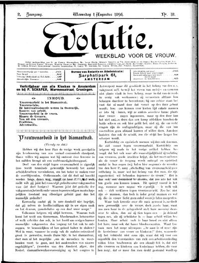 Evolutie: weekblad voor de vrouw, jaargang 02, nummer 18