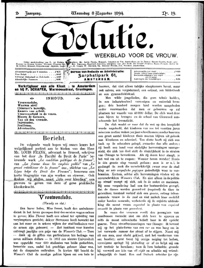 Evolutie: weekblad voor de vrouw, jaargang 02, nummer 19