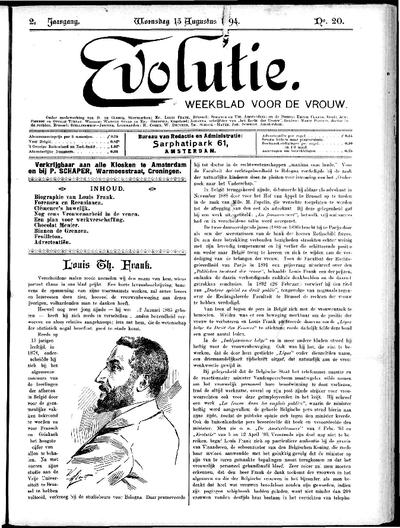 Evolutie: weekblad voor de vrouw, jaargang 02, nummer 20