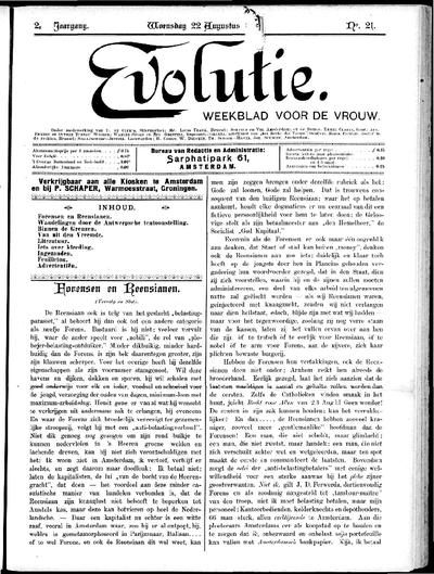 Evolutie: weekblad voor de vrouw, jaargang 02, nummer 21