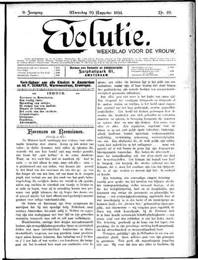 Evolutie: weekblad voor de vrouw, jaargang 02, nummer 22
