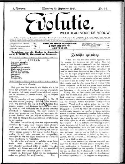 Evolutie: weekblad voor de vrouw, jaargang 02, nummer 24