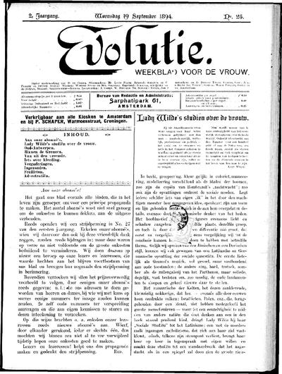 Evolutie: weekblad voor de vrouw, jaargang 02, nummer 25