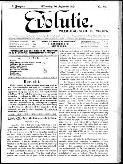 Evolutie: weekblad voor de vrouw, jaargang 02, nummer 26
