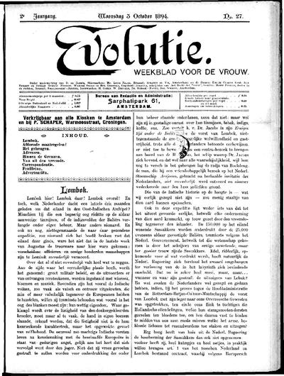 Evolutie: weekblad voor de vrouw, jaargang 02, nummer 27