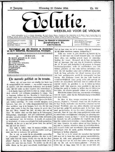Evolutie: weekblad voor de vrouw, jaargang 02, nummer 28