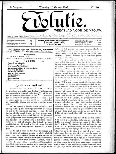 Evolutie: weekblad voor de vrouw, jaargang 02, nummer 29