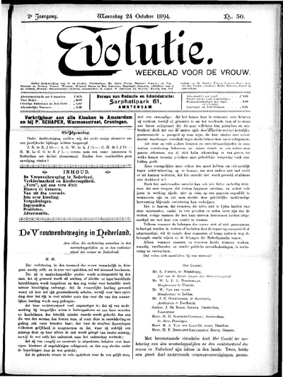 Evolutie: weekblad voor de vrouw, jaargang 02, nummer 30