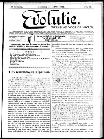 Evolutie: weekblad voor de vrouw, jaargang 02, nummer 31