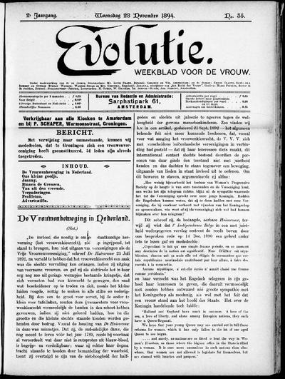 Evolutie: weekblad voor de vrouw, jaargang 02, nummer 35