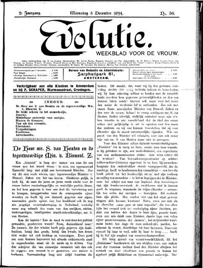 Evolutie: weekblad voor de vrouw, jaargang 02, nummer 36