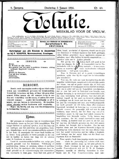 Evolutie: weekblad voor de vrouw, jaargang 02, nummer 40