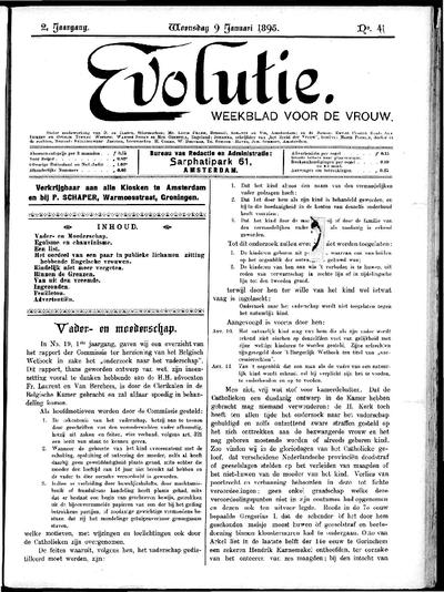 Evolutie: weekblad voor de vrouw, jaargang 02, nummer 41