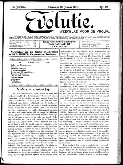Evolutie: weekblad voor de vrouw, jaargang 02, nummer 42