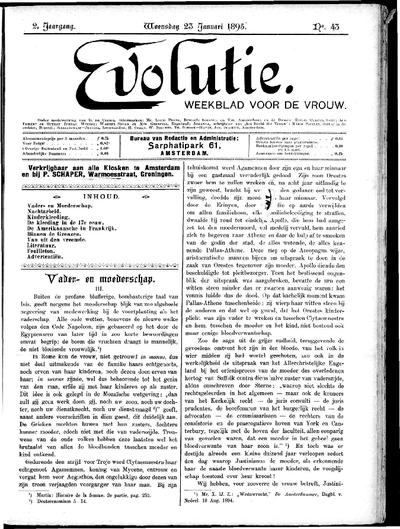 Evolutie: weekblad voor de vrouw, jaargang 02, nummer 43