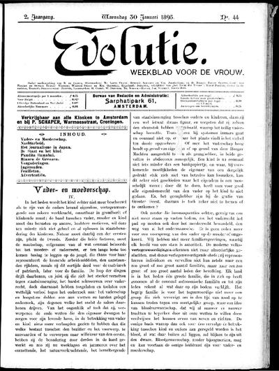 Evolutie: weekblad voor de vrouw, jaargang 02, nummer 44