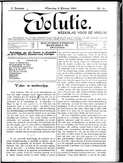Evolutie: weekblad voor de vrouw, jaargang 02, nummer 45
