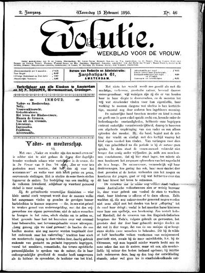 Evolutie: weekblad voor de vrouw, jaargang 02, nummer 46