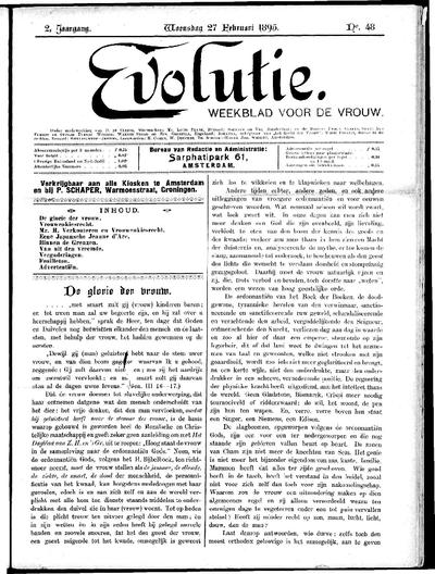 Evolutie: weekblad voor de vrouw, jaargang 02, nummer 48