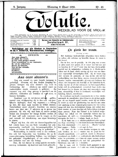 Evolutie: weekblad voor de vrouw, jaargang 02, nummer 49