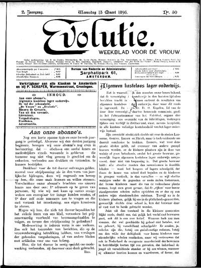 Evolutie: weekblad voor de vrouw, jaargang 02, nummer 50
