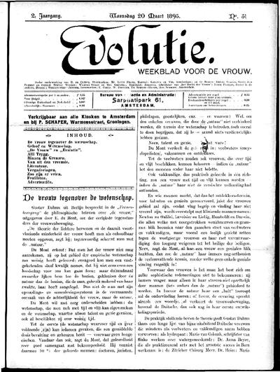 Evolutie: weekblad voor de vrouw, jaargang 02, nummer 51