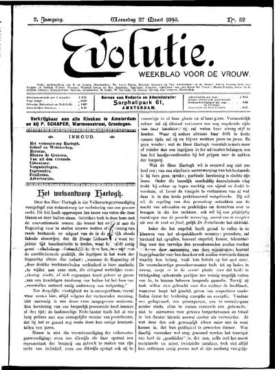 Evolutie: weekblad voor de vrouw, jaargang 02, nummer 52