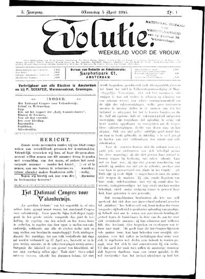 Evolutie: weekblad voor de vrouw, jaargang 03, nummer 01