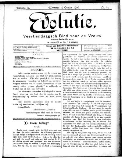 Evolutie: weekblad voor de vrouw, jaargang 12, nummer 14