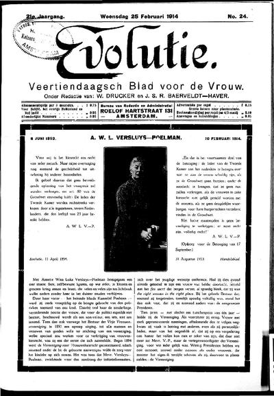 Evolutie: weekblad voor de vrouw, jaargang 21, nummer 24