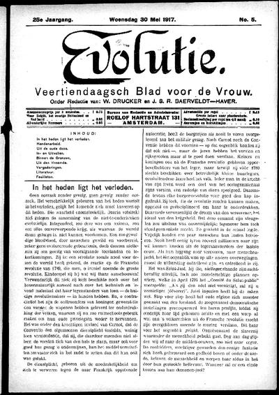 Evolutie: weekblad voor de vrouw, jaargang 25, nummer 05