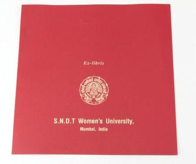 Ex-libris. S.N.D.T Women's University, Mumbai, India