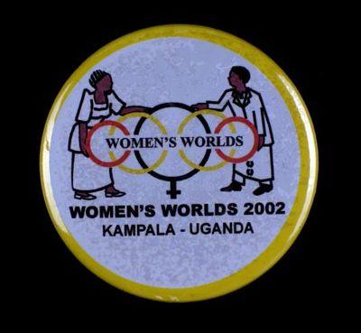 Button. 'Women's Worlds'